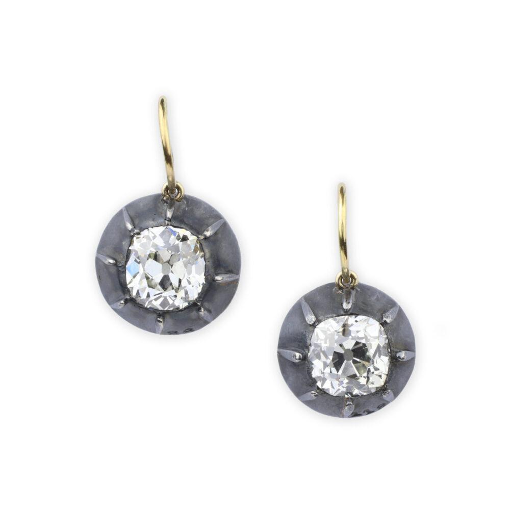 Diamonds on a Wire Ear Pendants