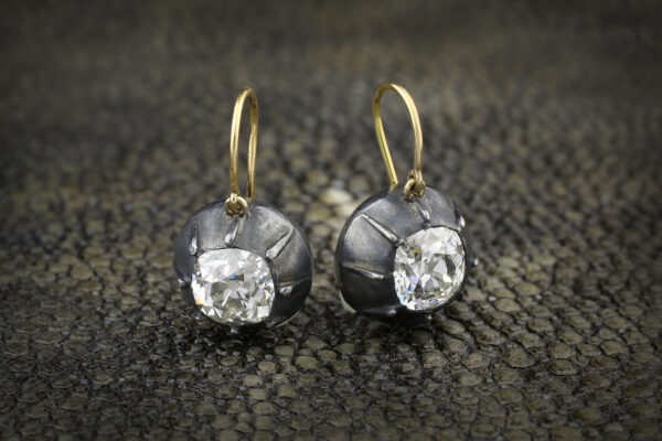 Diamonds On A Wire Ear Pendants