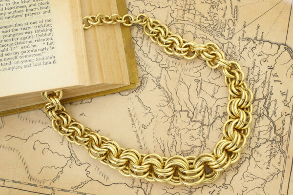 Cartier Gold Link Necklace