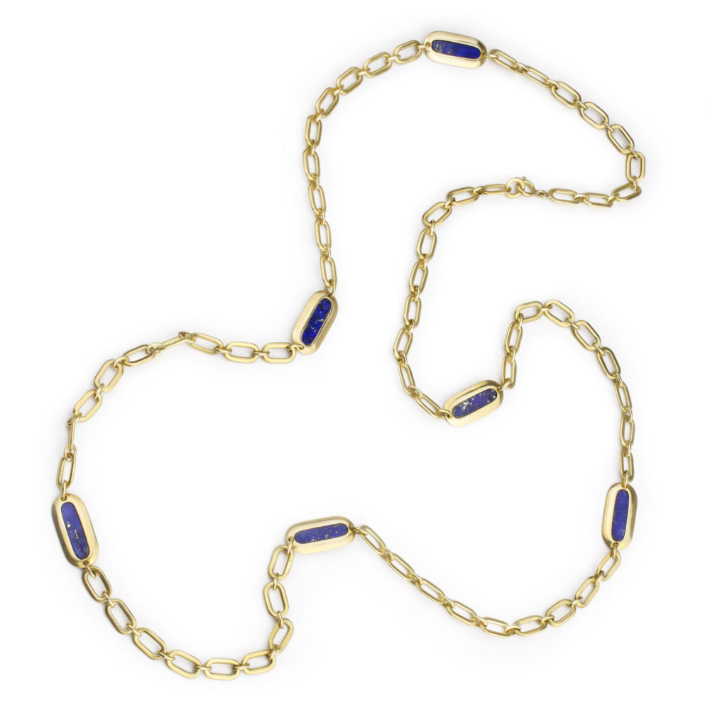 Bulgari Gold and Lapis Lazuli Necklace