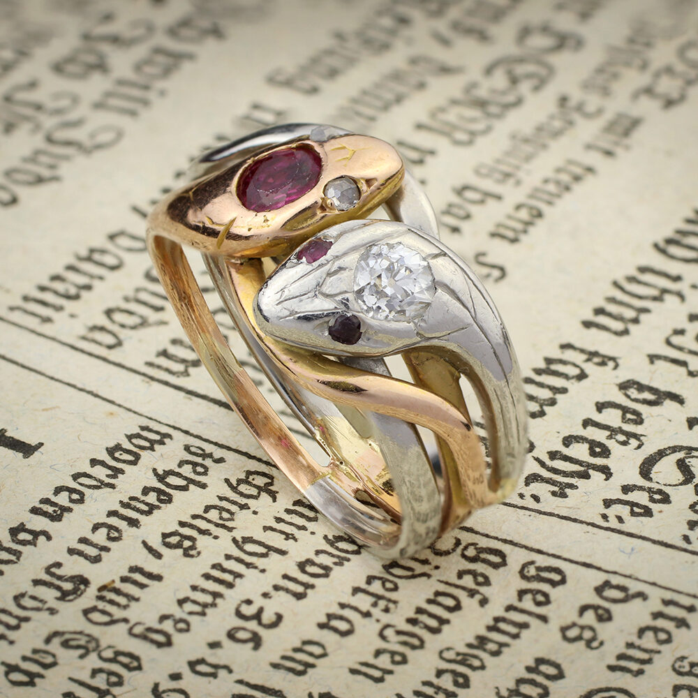 Antique Ruby, Diamond, Gold and Platinum Ring