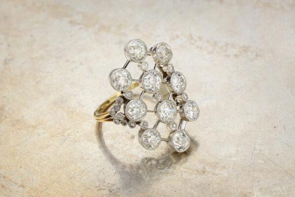 Diamond Set Plaque Ring